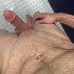 Hairy Naked Man With A Hard Cock