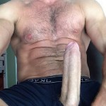 Hunky Hairy Man With A Big Hot Cock