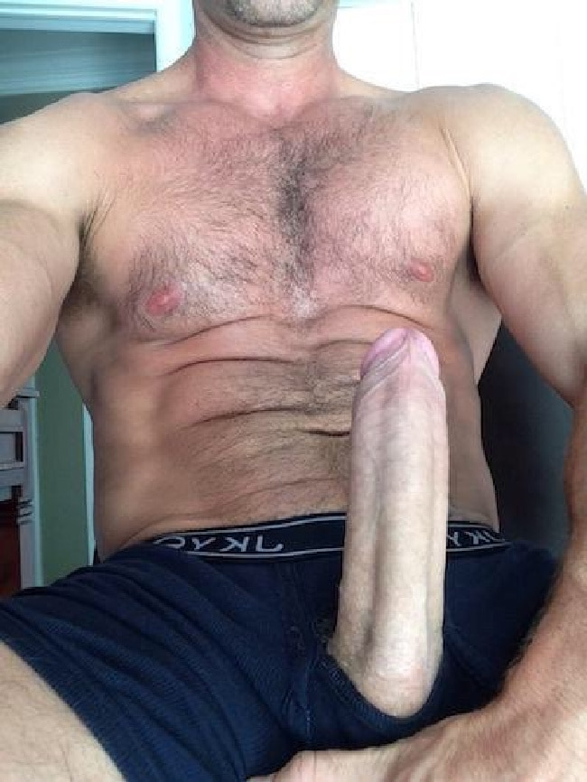 Hunky Hairy Man With A Big Hot Cock - The Nude Men Blog