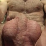 Hairy Nude Man Showing His Balls